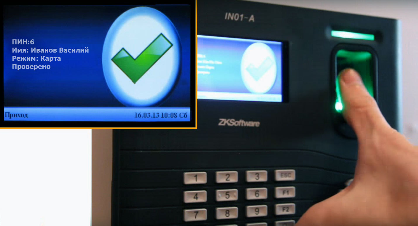 Принцип работы биометрической истемы