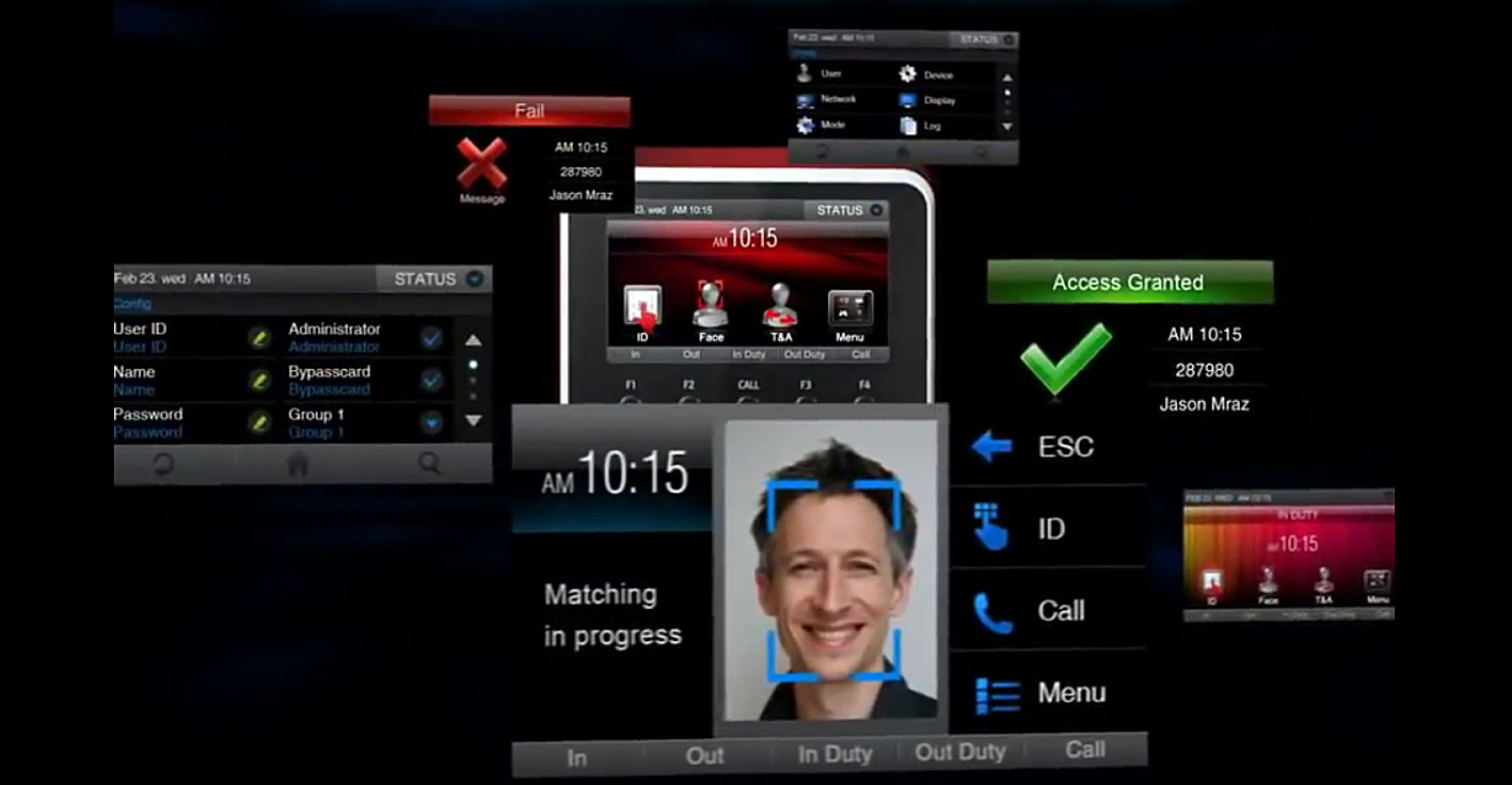 Функции биометрического контроля доступа