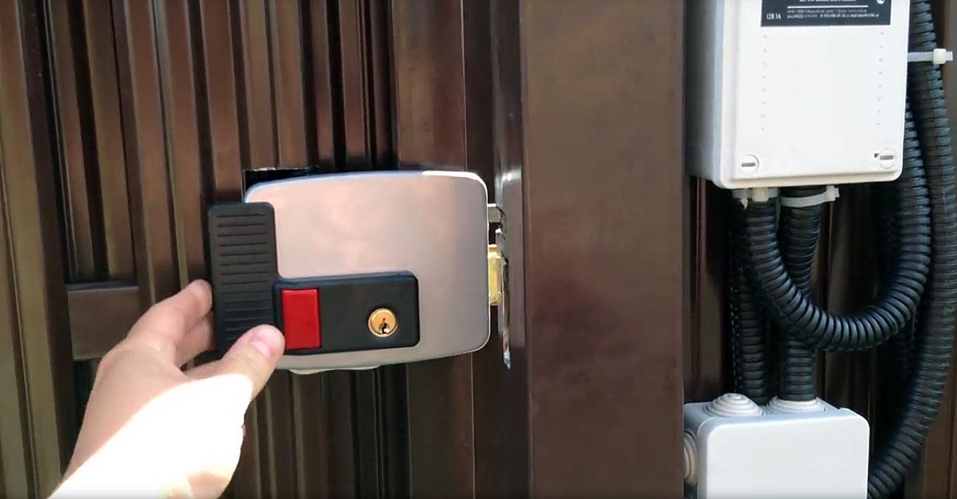 Беспроводной видеодомофон с замком