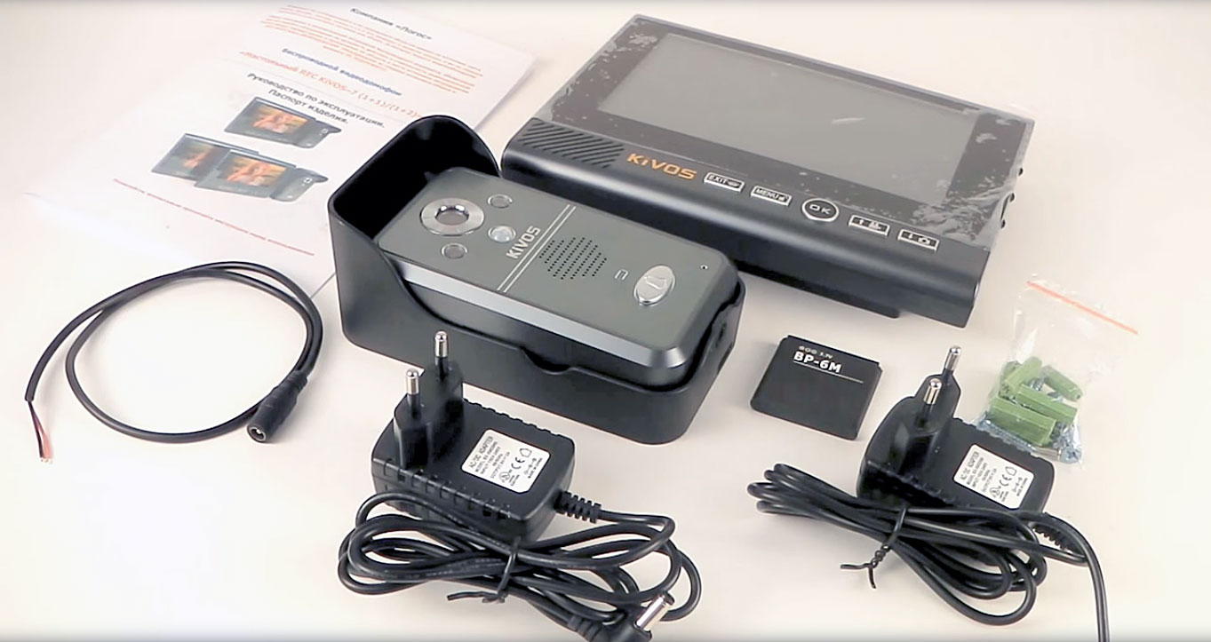 Cоставные элементы беспроводных видеодомофонов