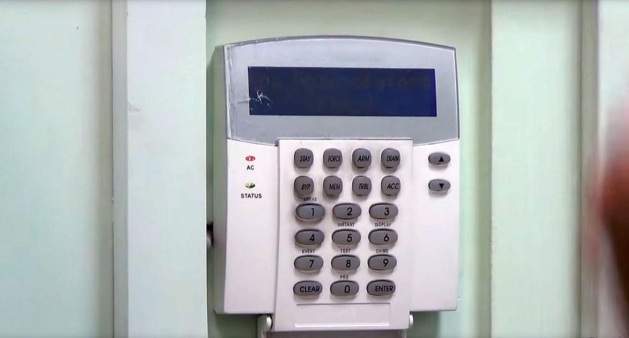 Контрольная панель пожарной сигнализации