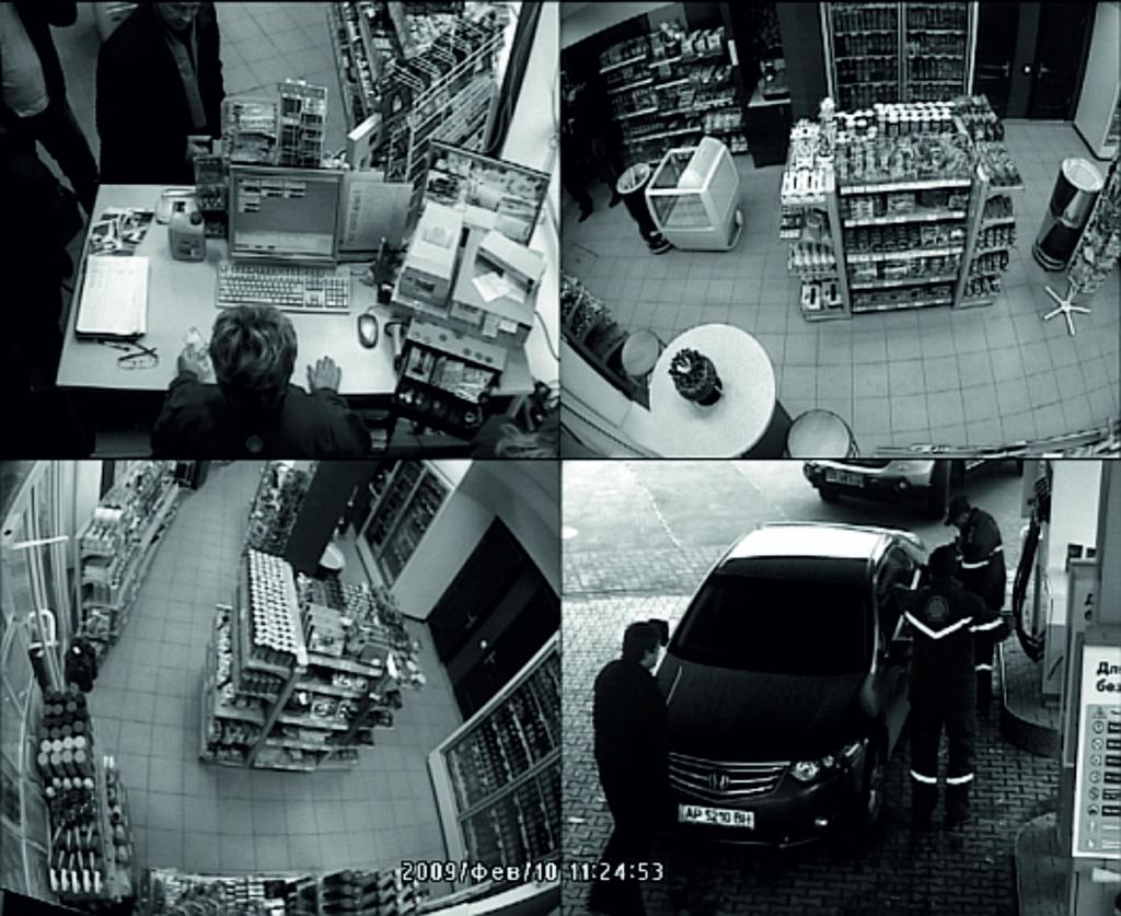 Видеонаблюдение камер на АЗС