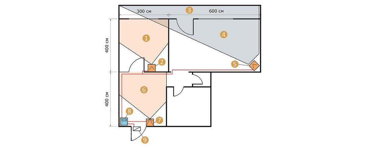 Датчики движения схема установки