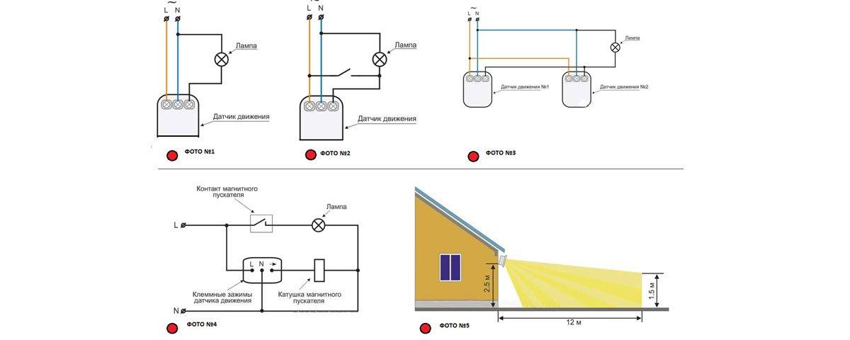 Настройка фонаря с датчиком движения