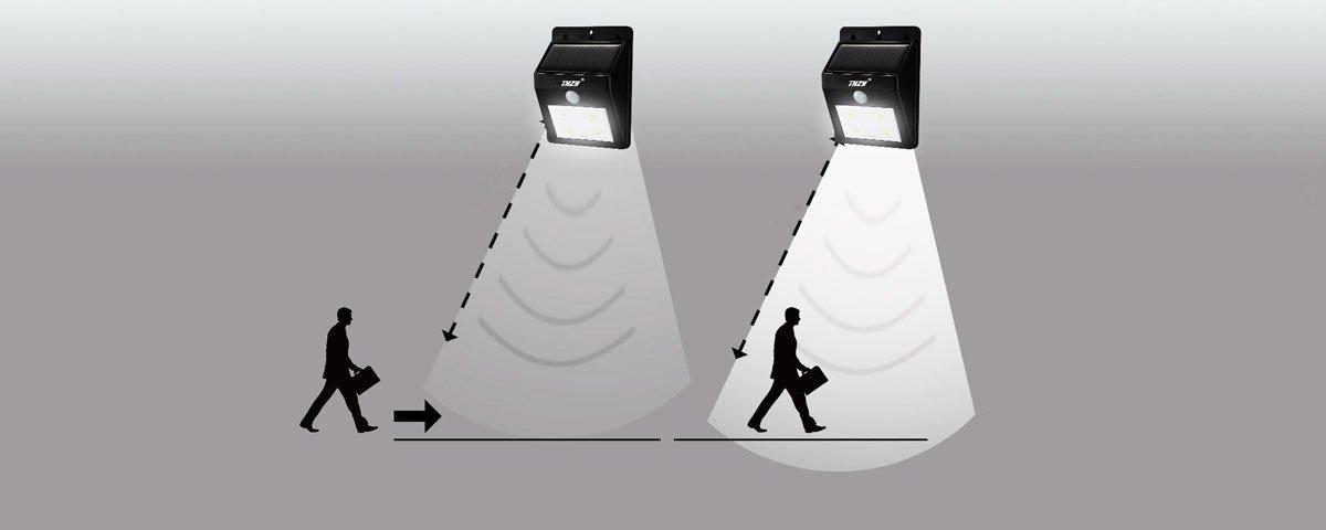 Принцип работы фонаря с датчиком движения