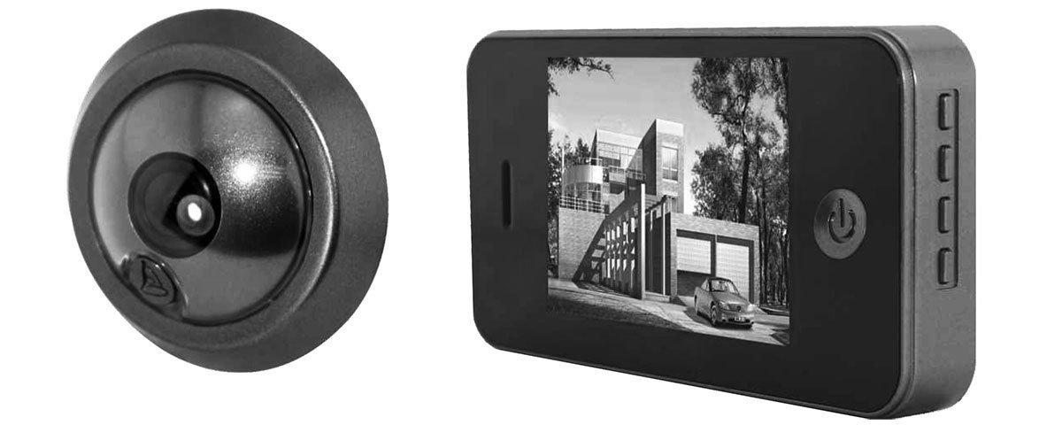 Черно-белый видеоглазок с датчиком движения